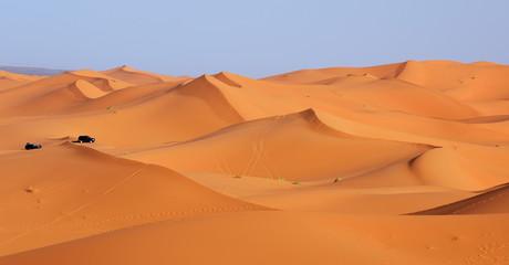 Morocco. Dune riding in Sahara desert