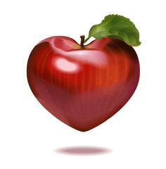 Print apple heart