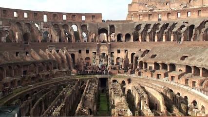 Interior of the Colosseum in Rome.