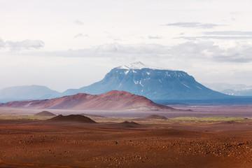 Desert landscape wiith mount Herdubreid, Iceland