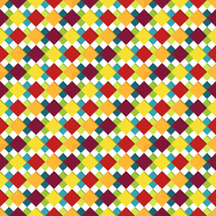 Seamless square pattern in bright colors