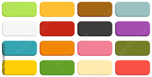 Collection of 16 isolated buttons - 76583535