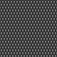 Black Scales Seamless Pattern Texture. Stock Vector Illustration