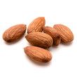 almond nuts isolated on white background close up