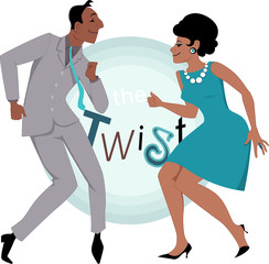 Black couple dancing twist