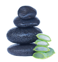 massage stones with aloe vera