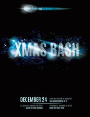Fun explosion Christmas party invitation