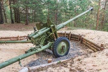 Artillery gun from World War II in Belarus