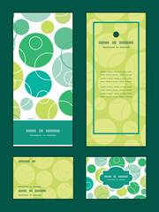 Vector abstract green circles vertical frame pattern invitation