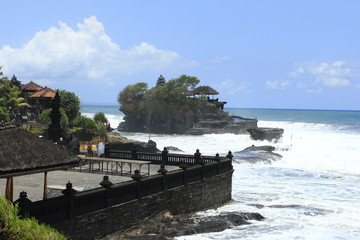 temple and beach