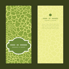 Vector abstract green natural texture vertical frame pattern