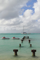 In gulf Anse de Sent-An. Pointe-a-Pitre, Guadeloupe