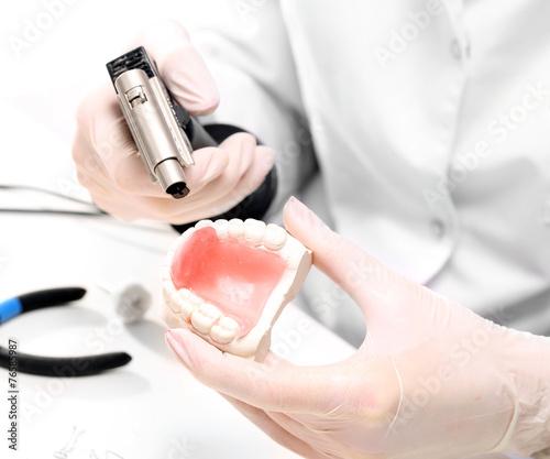 Fototapeta Proteza zębowa, stomatologia estetyczna