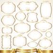 Golden frames - vintage style - 76586585