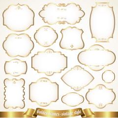Golden frames - vintage style