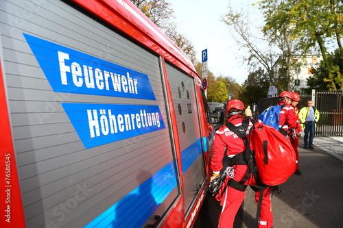 Leinwanddruck Bild Symbolbild Feuerwehr