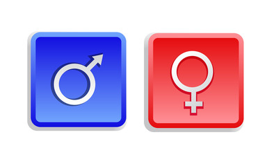 Two Gender Sign Buttons