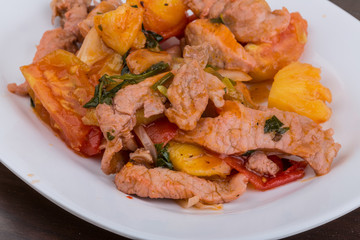 Pork and pineapple salad