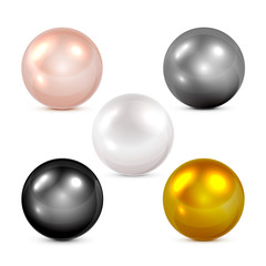 Set of five spheres