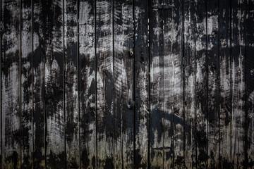 Weathered black barn wood background