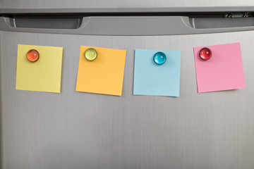 Refrigerator With Colorful Notes