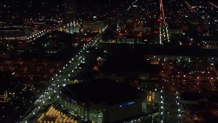 Utah Nightlife City Skyline