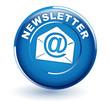 newsletter sur bouton bleu