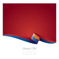Arizona ribbon flag vector