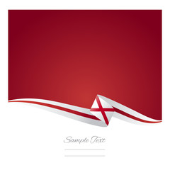 Alabama ribbon flag vector