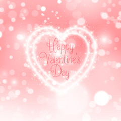 Valentines Day sparkle heart