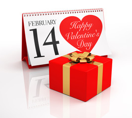 Valentine's Day Calendar and Gift Box