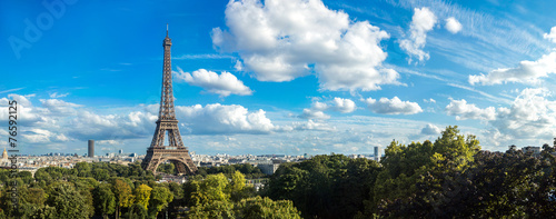 Canvas Europese Plekken Eiffel Tower in Paris, France