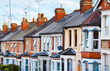 Row of Typical English Terraced Houses - 76593152