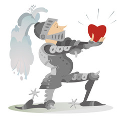 Knight gives the heart to his fiancee