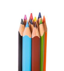 Vertical closeup color pencils