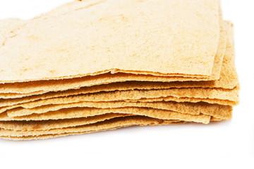 pane sardo su sfondo bianco