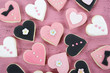 Romantic Valentine heart shape cookies