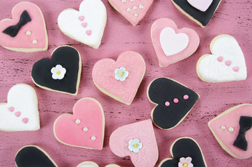 Romantic Valentine heart shape cookies