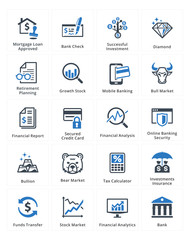 Personal & Business Finance Icons Set 1 - Blue Series