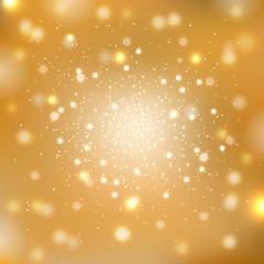 Gold sparkles background