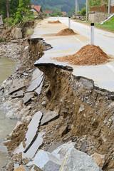 Landslide destruction