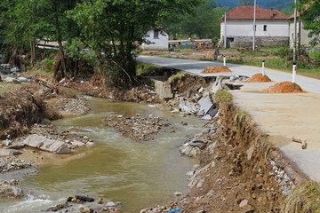 River after flooding