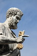 Statue of Saint Peter the Apostle in Rome, Italy