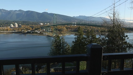 Lions Gate Bridge, Burrard Inlet, Vancouver