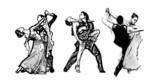 classical dancers trio
