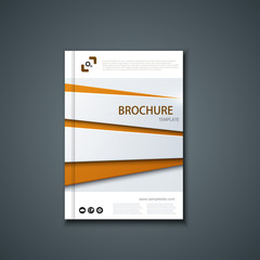 Vector flyer or banner. Brochure template design