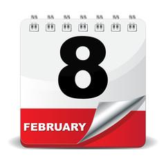 8 FEBRUARY ICON