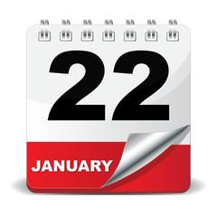 22 JANUARY ICON