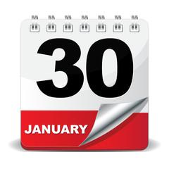 30 JANUARY ICON