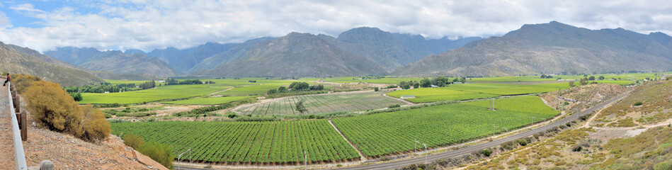 Panoramic view of the Hex River Valley